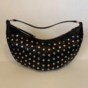 BCBG Designer Studded Mini Hobo Handbag / Purse